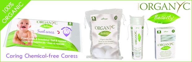 Organyc 100% organic cotton baby wipes