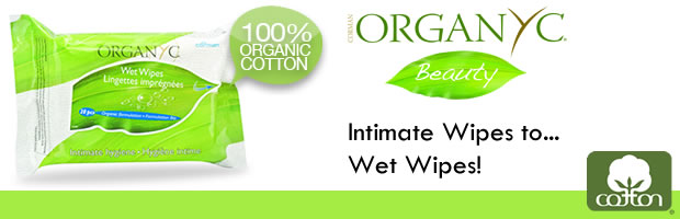 Organyc 100% organic cotton wet wipes