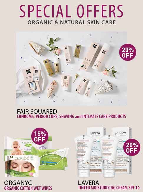 Organic & Natural Skin Care and Cosmetics - Special Offers