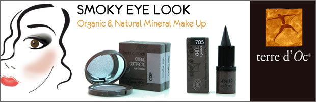 terre d'Oc organic & natural mineral make up - Smoky Eye Look