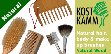 Kost Kamm Natural hair, body and make-up brushes - Also available: Gentle baby brush