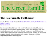 monte bianco - eco friendly toothbrushes and changeable toothbrush heads