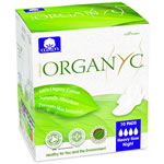 Organyc Feminine Hygiene - 100% Organic Cotton Sanitary Pads - Heavy Flow Night (Folded)