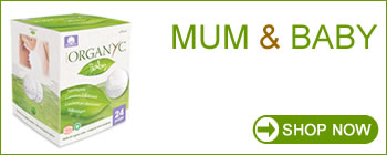 ORGANYC - 100% Organic Cotton Care for Mum and Baby.