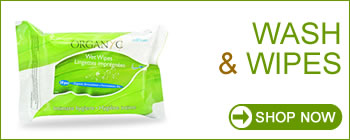Organyc Feminine Hygiene - 100% Organic Cotton Wash and Wipes