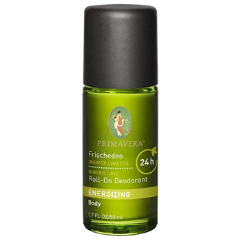 Primavera Natural & Organic  Skincare - Energizing - NEW Deodorant Roll On