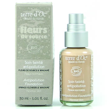 terre d'Oc natural and organic skin care Japan -  anti-polution normal skin - foundation