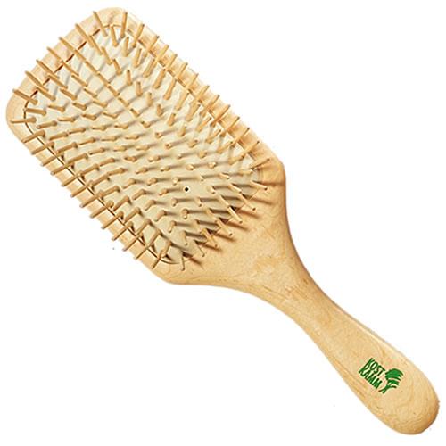 Natural Wooden Paddle Hair Brush With Tacks Kost Kamm