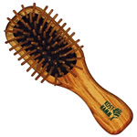 Kost Kamm Natural Wood Brush - Hair Brush - Mini Olive Wood Brush - Tacks