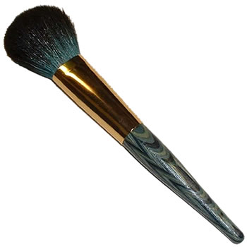 Kost Kamm Natural Wood Brush - Make Up Brush - Rouge Brush Goat Hair (Blue)