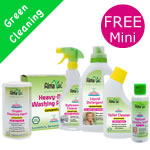 Alma Win Certified Organic Household Cleaning Products - Special Offer Green Cleaning Pack