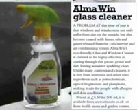 Alma Win Certified Organic Household Cleaner - Glass & Window Cleaner Concentrated