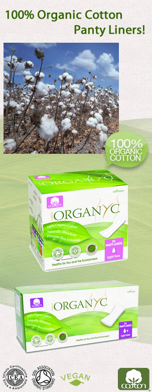 Organyc - 100% Cotton panty liner - Dont ruin your best knickers or your delicate skin