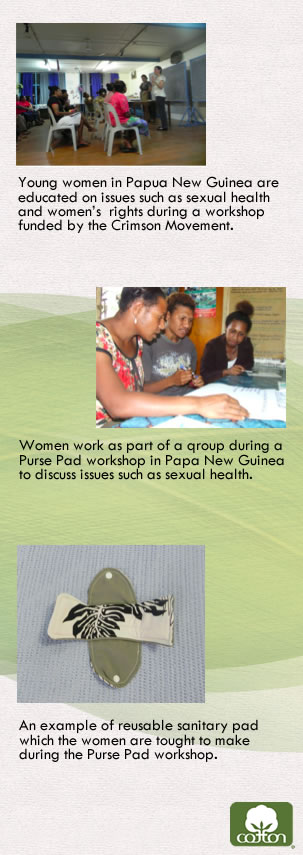 Organyc 100% Organic Cotton Feminine Hygiene Care - Papua New Guinea Purse Pad workshop