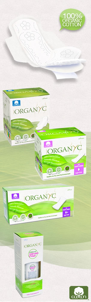 Organyc - 100% Organic Cotton Feminine Care