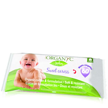 Organyc - Organic Cotton Skin Care - NEW 100% Organic Cotton baby Wipe