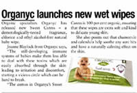 Organyc - 100% Organic Cotton Feminine Care - Beauty Products - Organic Cotton Wet Baby Wipe