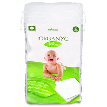 Organyc - 100% Organic Cotton Beauty Care - 100% Organic Cotton Square - vegan