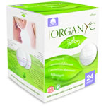 Organyc - 100% Organic Cotton Beauty Care - 100% Organic Cotton Breast Pads - vegan