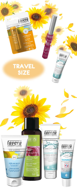 Lavera Organic & Natural Cosmetics and Skin Care - Holiday Essentials - Travel Size Toiletries