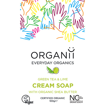 Organii Organic Soap Green Tea and Lime Cream Soap Natural Soap