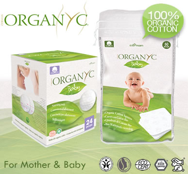 Organyc - Organic Cotton Breast Pads and Square Cotton Pads for Mum & Baby