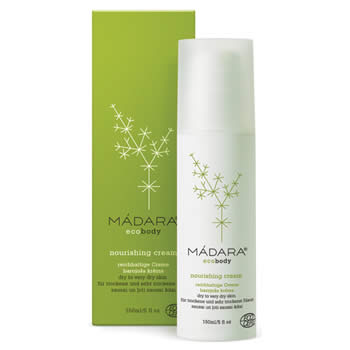 madara eco body body lotion, nourishing cream for dry to very dry skin 150ml organic