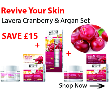 Lavera Cranberry and Argan Face Care Set for home page September offer