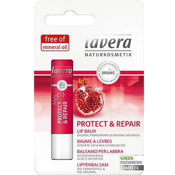 Lavera Organic Lip Balm Protect and Repair Pomegranate and Argan