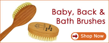 Forsters Natural Products - Baby, back and bath brushes