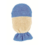 Forsters Kids wash glove mitt organic cotton in blue