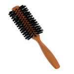 forsters natural boar bristle hair brush round arc shape with pear tree wooden handle