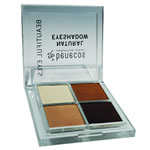 benecos natural quattro eyeshadow in coffee and cream, certified vegan