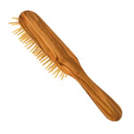 forsters oval styling hair brush with wooden pins, olive wood