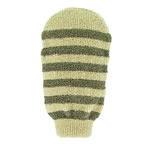 Forsters striped Massage mitt organic linen and cotton