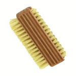 forsters nail brush double sided with natural bristles and beech wood