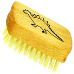 Forsters kids nail brush with fun animal motif, natural bristles and FSC eco friendly beech wood