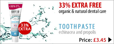lavera organic & natural 33% extra free toothpaste