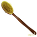 Forsters massage back brush, body brush with detachable handle, pear tree wood and natural bristles