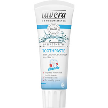 lavera basis sensitive toothpaste original with echinacea and propolis