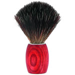 Forsters Wooden shaving brush with beautiful red stained ash tree wooden handle