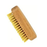 forsters mini wooden nail brush in beech wood and natural bristles