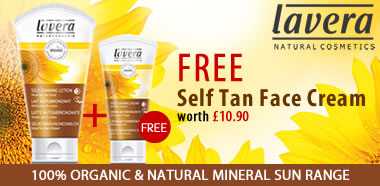 Lavera Organic & Natural - Special Offer FREE Self Tan Face Cream