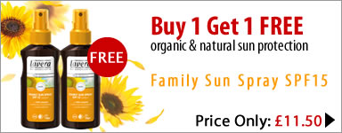 lavera organic & natural sun care - special offer buy 1 get 1 free