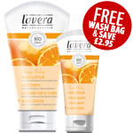 Lavera Special Offer - FREE Cotton Wash Bag and SAVE £2.95 Organge Feeling Gift Set