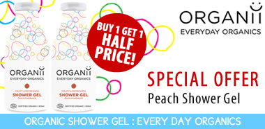 Buy 1 Get 1 Half Price Organii organic Shower Gel peach