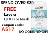 Free beauty gift Lavera Basis Sensitive Q10 Mask