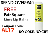FREE Beauty Gift Fair Squared Lip Balm Lime Fresh