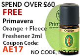 FREE Beauty Gifts Primavera Orange Air Freshener