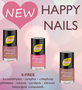 Benecos Natural Beauty NEW nail polishes happy nails
